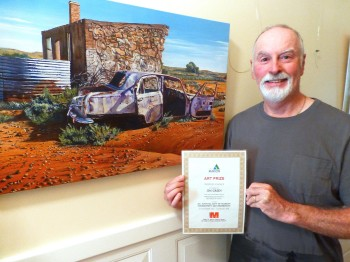 """Winner of """"Peoples Choice', City of Marion Art Exhibition, 2013/14"""