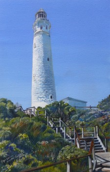 'Cape Leeuwin, Augusta WA', acrylic on canvas, 300 x 450 mm, SOLD