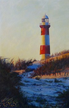 'Moore Point, Geraldton, WA' acrylic on canvas, 300 x 450 mm, SOLD