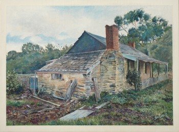 'Quarryman's Cottage, Willunga' : acrylic on canvas, SOLD