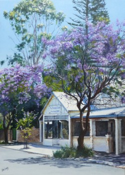'Tranquillity, Old Noarlunga' : acrylic on canvas, SOLD