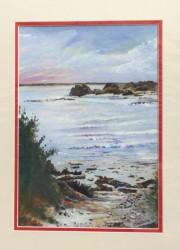 'Peaceful Bay' acrylic on canvas Board. 20 x 28cm. SOLD