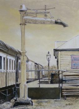 Milang Station, SA Acrylic on canvas: 400 X 300 mm. SOLD