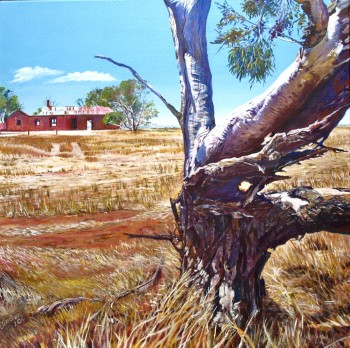 Red Ruin, Strathalbyn Road Acrylic on canvas: 600 X 600 mm. SOLD